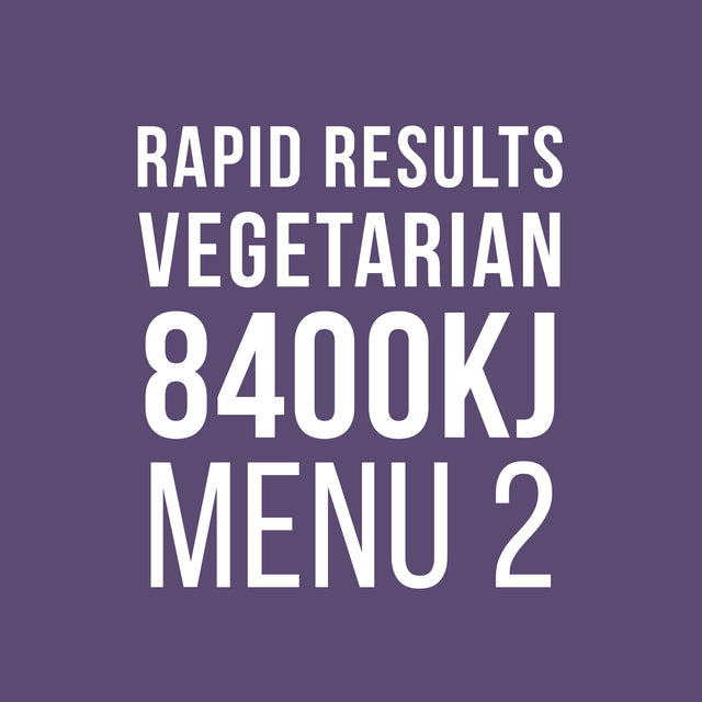 Rapid Results 8400kJ Vegetarian Menu 2
