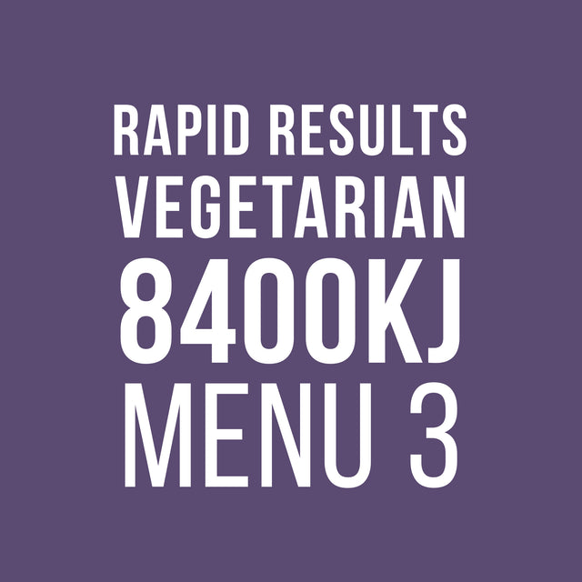 Rapid Results 8400kJ Vegetarian Menu 3