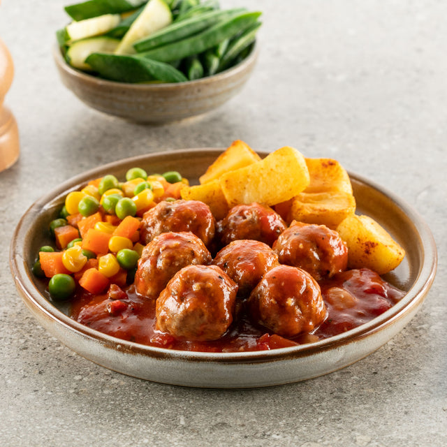 Meatballs & Vegetables