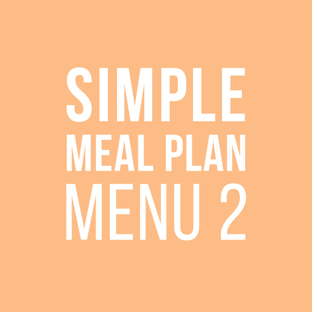Simple Meal Plan 2
