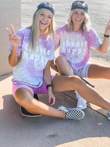 Choose Happy - Tie Dye