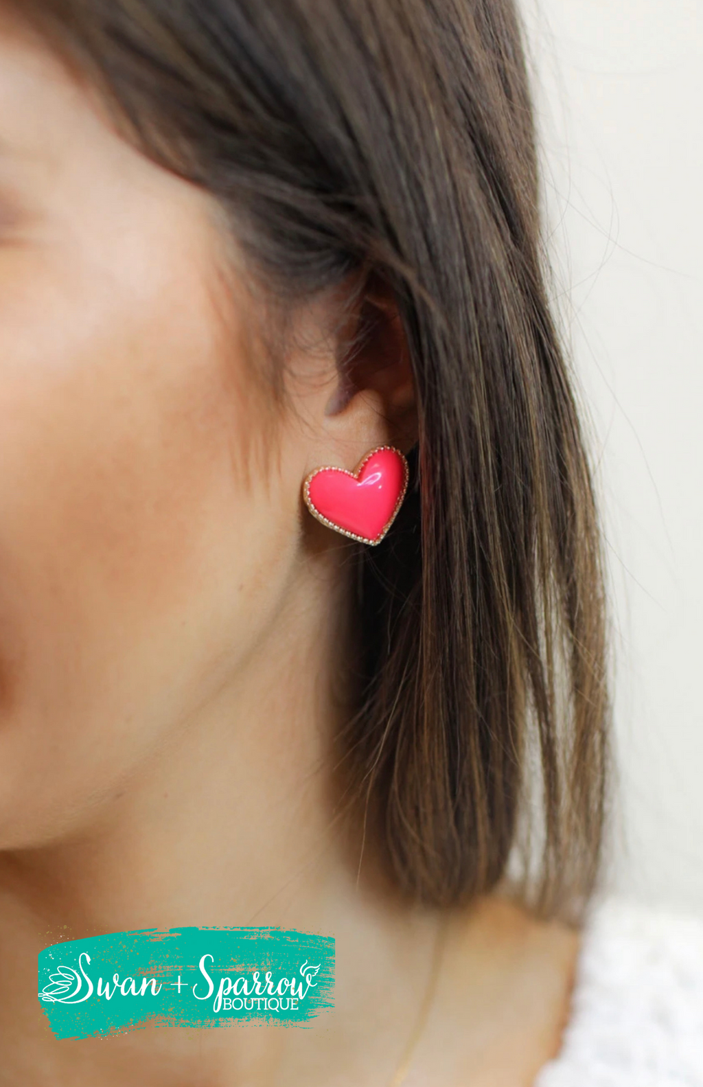 Heart Breaker Stud Earrings