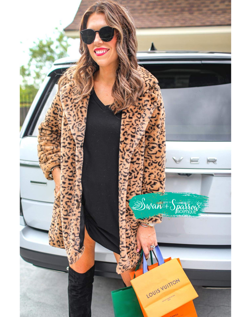 Fancy Girl Leopard Print Coat