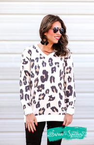 Mallory Taupe Leopard Tunic