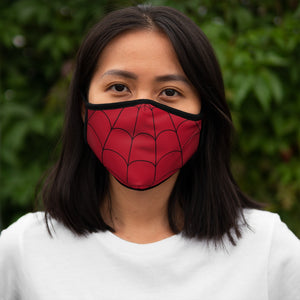Red Fitted Polyester Face Mask