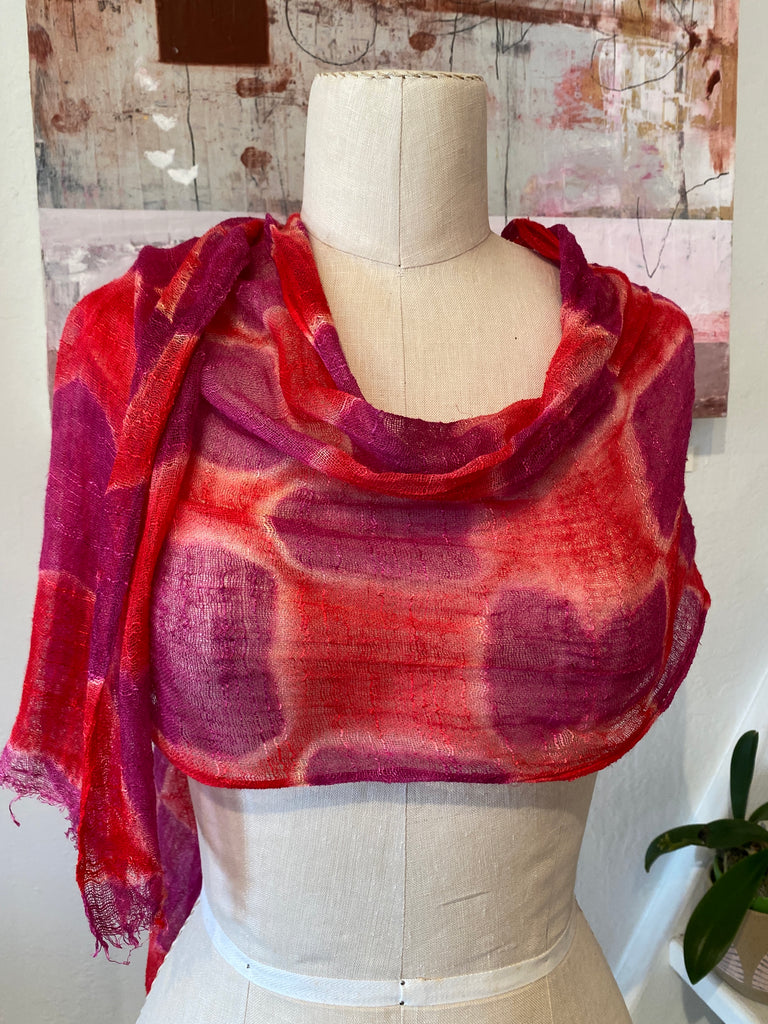 Shibori Dyed Hemp Scarves