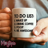 To Do List: 1. Wake Up... Mug - Birthday Work Office Rude Funny Xmas Coffee Gift
