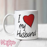 I Love (Heart) My Husband Mug