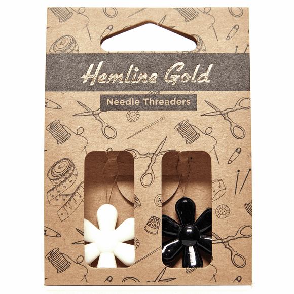 Hemline Gold - Needle Threader: Flower: 2 Pieces