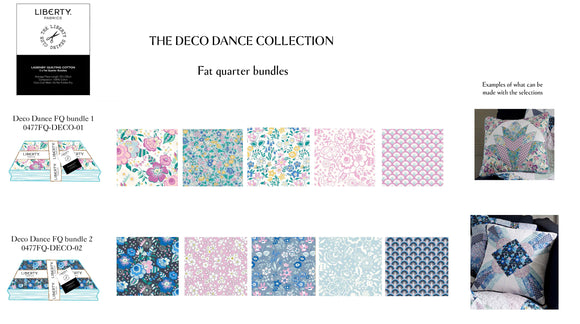 Liberty's Deco Dance Fat Quarter Bundle - Pink