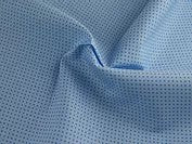 Reynard Fabrics Cotton Poplin - Micro Dot Sky/Denim