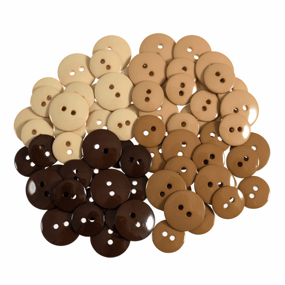 Trimits Buttons - Browns