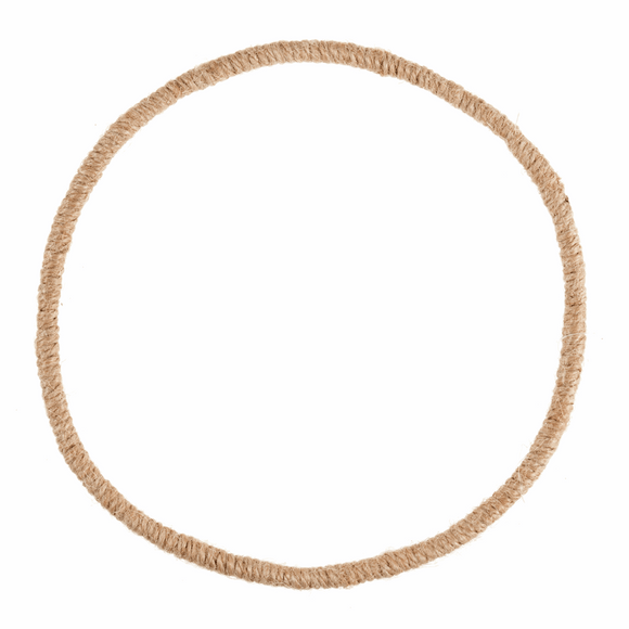 Jute Wrapped Wire Wreath Base