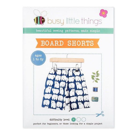 Busy Little Things - Board Shorts Pattern