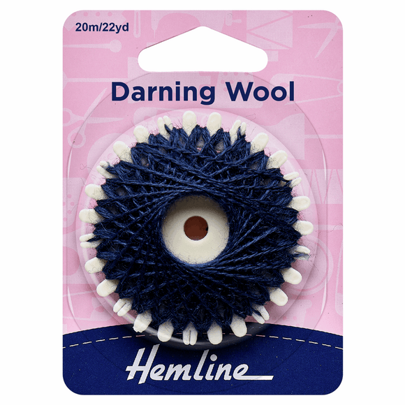 Hemline Navy Darning Wool - 20m
