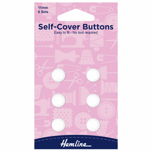 Hemline Self Cover Buttons 11mm