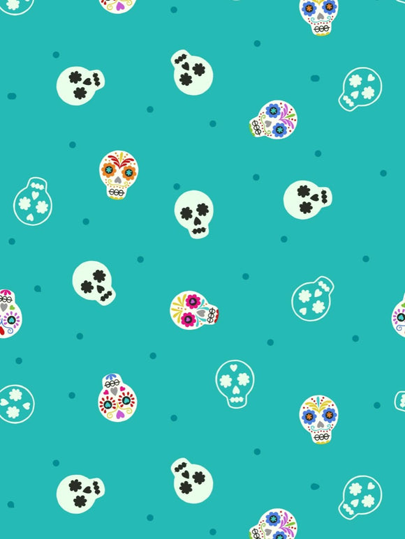 Lewis & Irene - Small Things Glow - Sugar Skulls on Turquoise