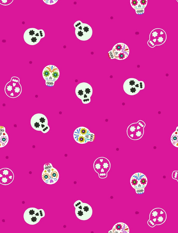 Lewis & Irene - Small Things Glow - Sugar Skulls on Bright Pink