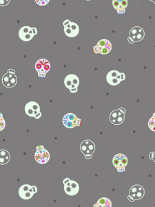 Lewis & Irene - Small Things Glow - Sugar Skulls on Grey