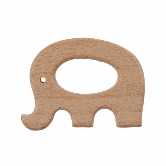 Wooden Craft Ring - Elephant