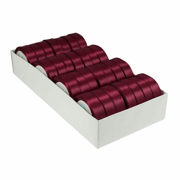Satin Ribbon - 15m x 20mm - Wine