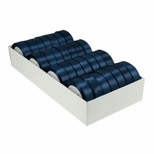 Satin Ribbon - 15m x 20mm - Navy Blue