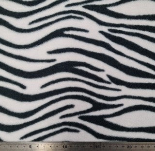 Printed Polar Fleece - Zebra Print