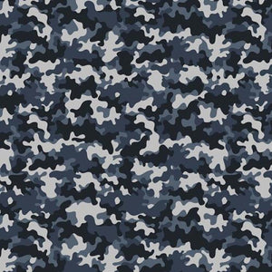 Chatham Glyn Crafty Cotton - Camouflage Blue