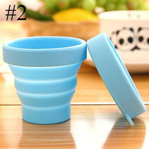 1Set Silicone Collapsible Travel Cup