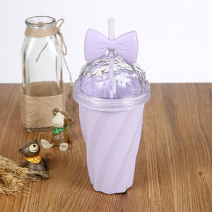 Straw Water Plastic Cup