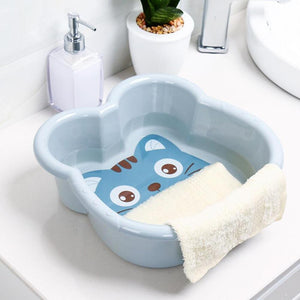 Hot 1PC Washbasin Plastic Basin Cute Cartoon