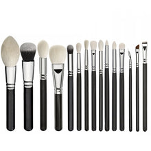 Load image into Gallery viewer, 15pcs Black Synthetic Hair Makeup Brushes