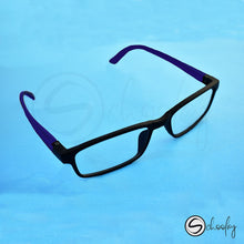 Load image into Gallery viewer, 2-12 Years Online Class Eye Protection - Wine Red Rectangular Specs