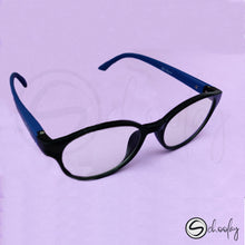 Load image into Gallery viewer, 2-12 Years Online Class Eye Protection -  Cobalt Blue Oval Specs