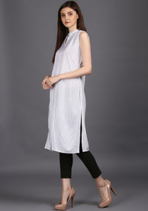 Designer Black and white kurti