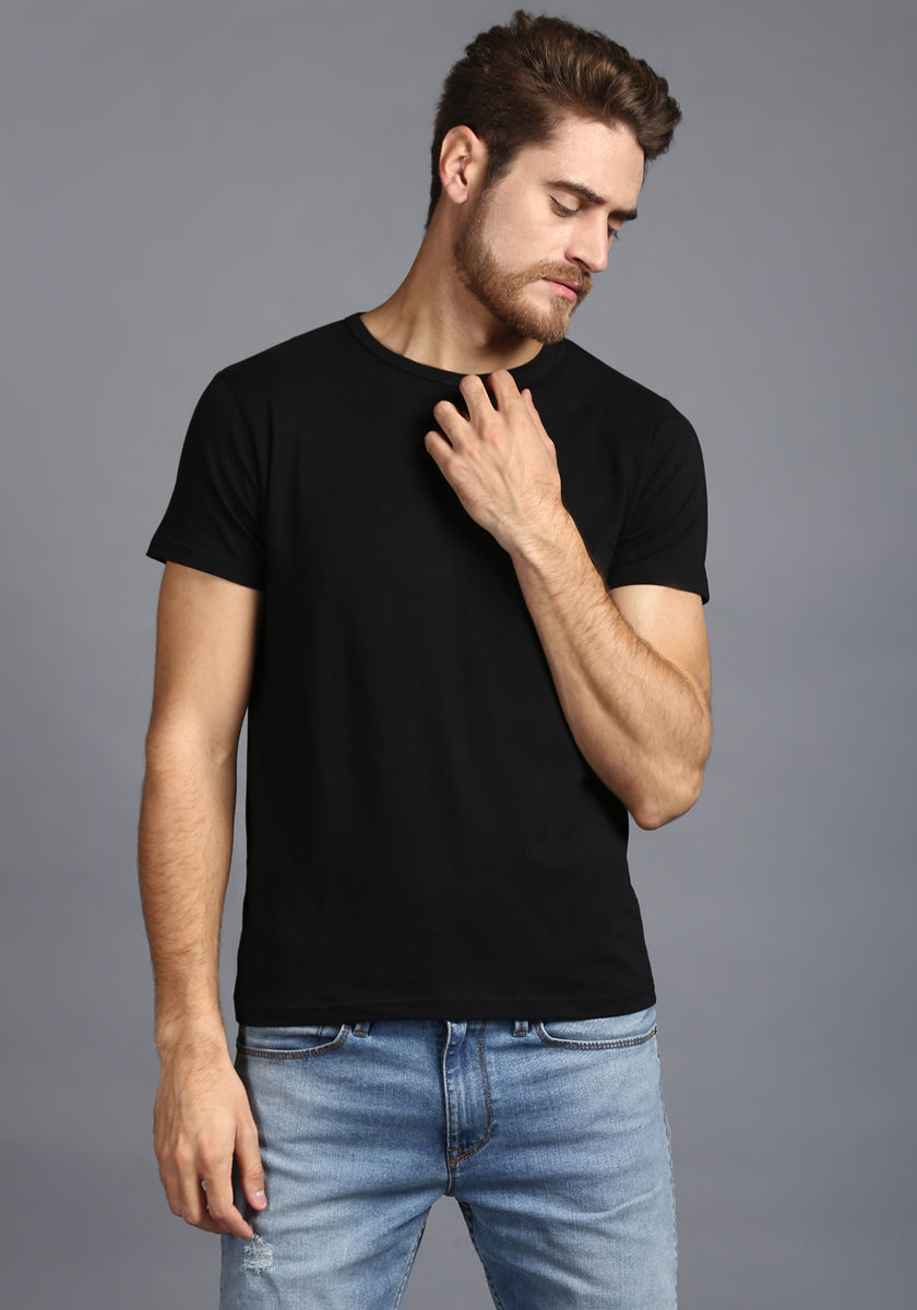 Half Sleeve black Round neck Tee