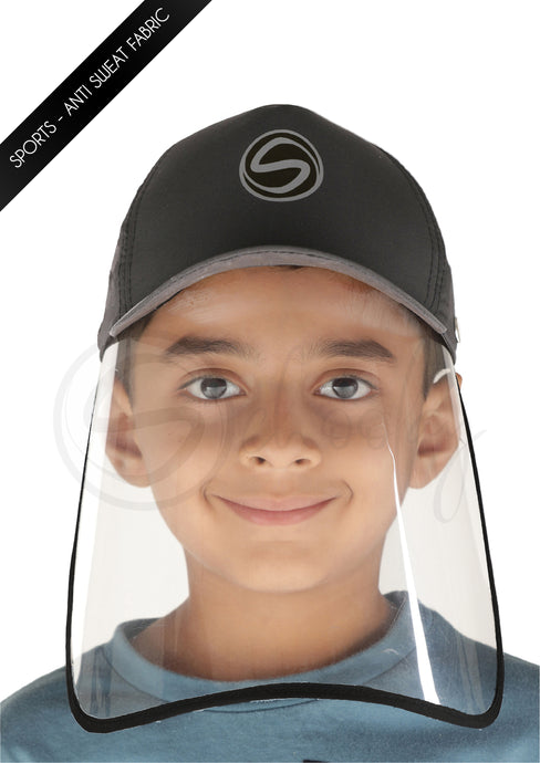 Voonik Defenders- CharcoalGrey Sporty Detachable Cap shield