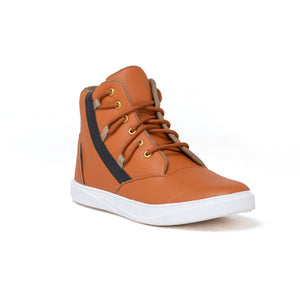 Men's Brown and white casual Sneaker shoes