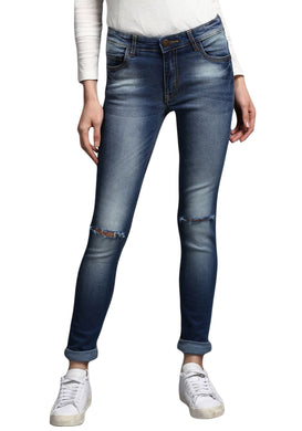 Blue Skinny Fit Low Rise women's Stretch Jeans