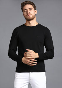 Full sleeve Black Round Neck Tee