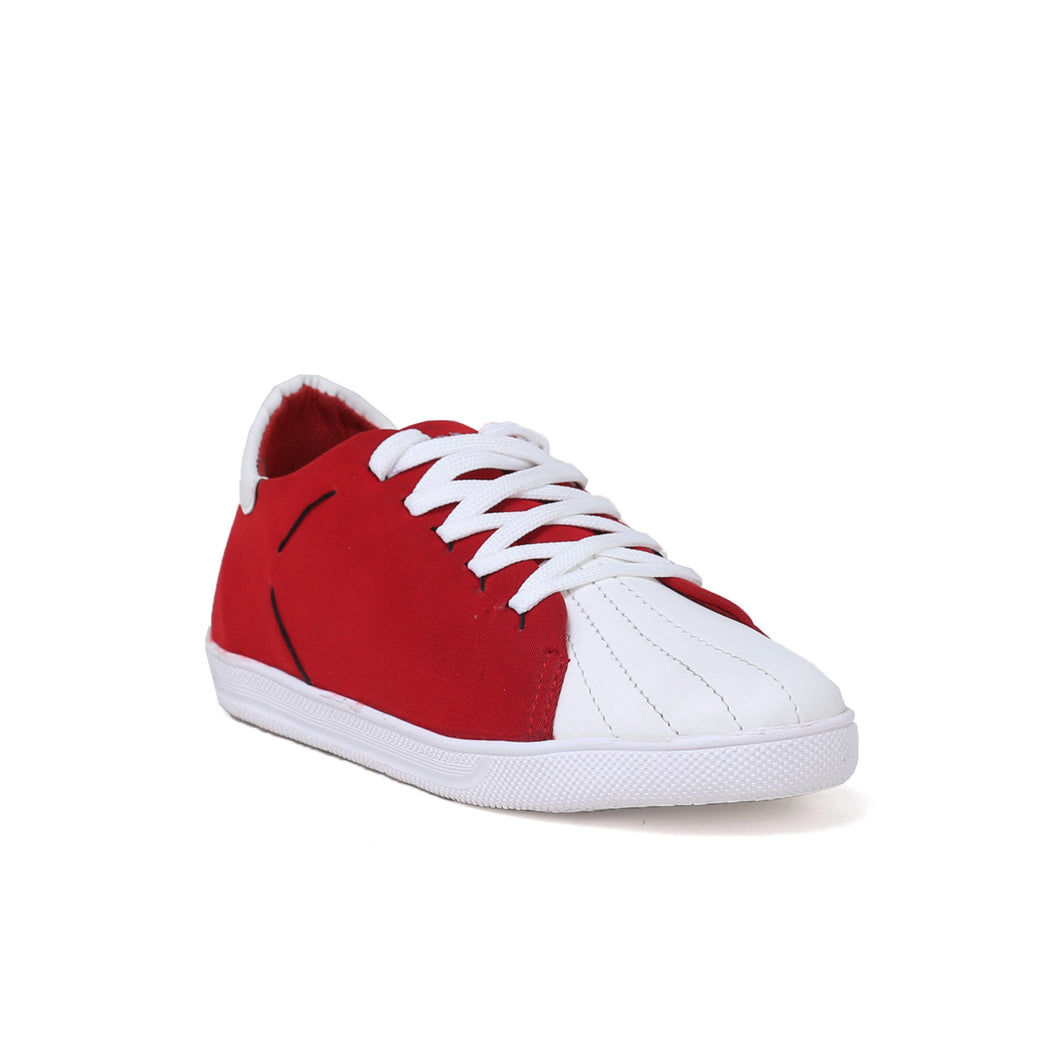 Men's Red and white Casual Sneaker Shoe