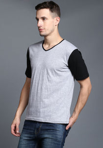 Half Sleeve Black and White Round neck Tee