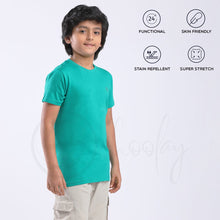 Load image into Gallery viewer, Stain Repeller Solid Teal Green Tee