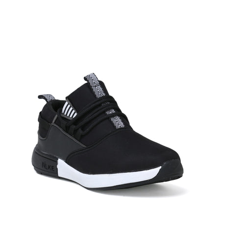 Men's Black and White Casual Shoe without lace