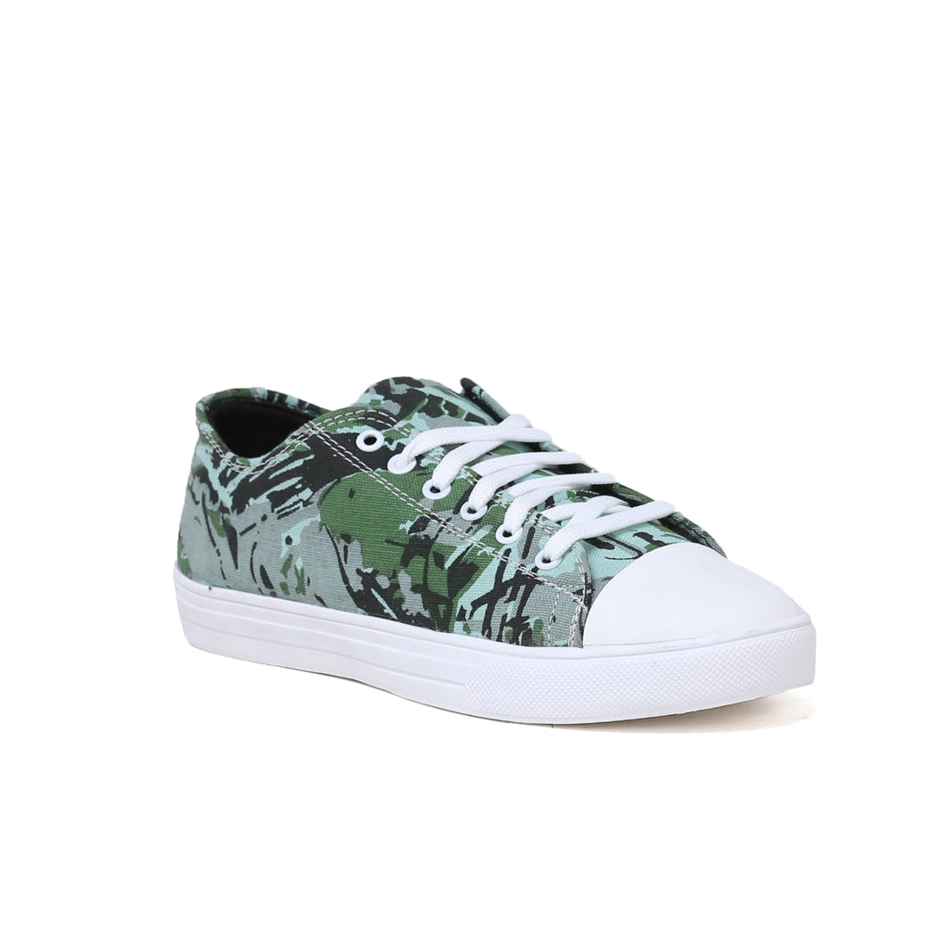 Men's Green Camouflage Casual Shoe