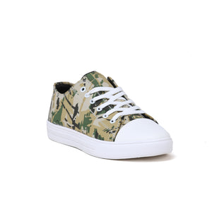 Men's Gold Camouflage Casual Sneaker Shoe