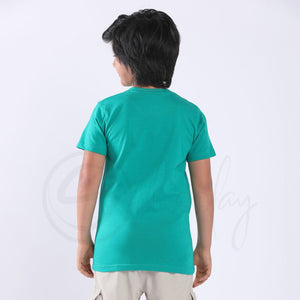 Stain Repeller Solid Teal Green Tee