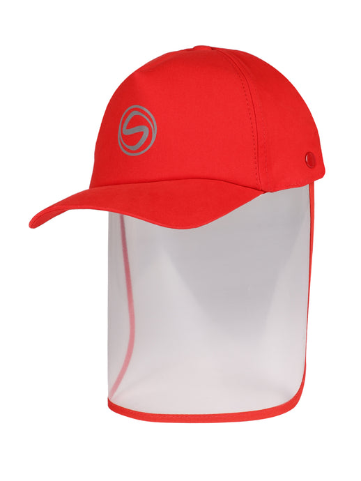 Voonik Adult Red Classic Detachable Cap shield