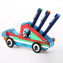 Load image into Gallery viewer, Do It Yourself Sheet Made 3D Car Puzzle + Desk Organizer + Coloring Model + Working Toy (4 Yrs & Above)