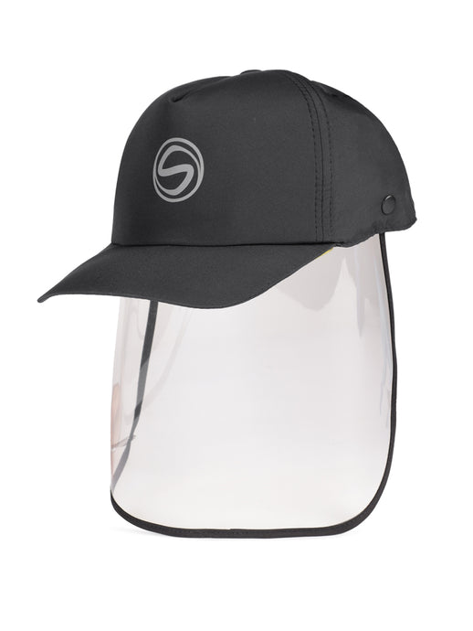 Voonik Adult Panther Black Sporty Detachable Cap shield